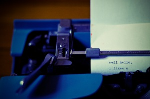Typewriter Says: Hello