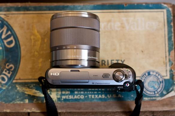 Le Sony NEX-C3 vu du dessus
