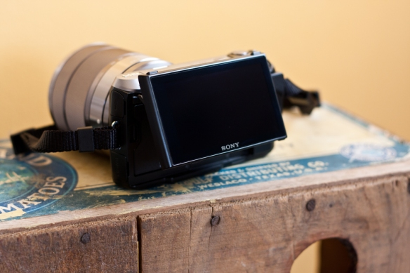 Sony NEX-C3 et son écran orientable